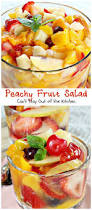 delicious peachy fruit salad is made with peach pie filling pears