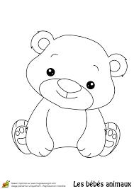 dessin à colorier d u0027un mignon bébé ours coloriages animaux de la