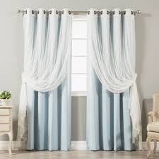Blackout Curtain Panels With Grommets Shop For Aurora Home Mix And Match Curtains Blackout Tulle Lace