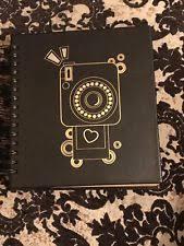 black leather scrapbook michael kors scout collection black leather scrapbook album 30