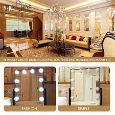 vanity mirror with led lights vanity mirror led light touch control diy comestic make up l