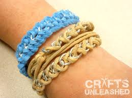 chain bracelet with leather images Easy diy leather and chain quot braid quot wrap bracelet jpg