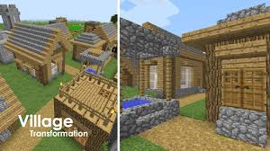 minecraft village upgrade small houses and well village