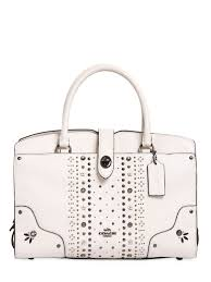 coach leather handbags outlet coach ny mercer studded leather top