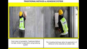 traditional tile fixing method and modern tile cementitious