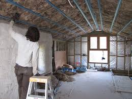 Strawbale House Plans by Sue Installing Insulation In Attic Roof Strawbale House U2026 Flickr