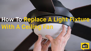 Replace Ceiling Light With Fan How To Replace A Light Fixture With A Ceiling Fan
