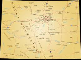 Map Of Colorado State by Colorado Map Blank Political Colorado Map With Cities