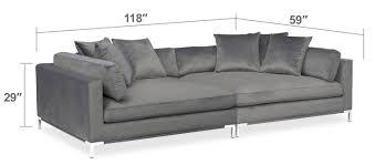 moda piece sofa gray value city furniture and mattresses patio