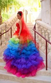 ricky lindsay esperanza haute couture rainbow evening gown dress