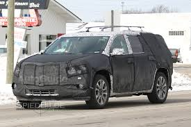 chevrolet traverse 7 seater 2018 cadillac xt7 or 2017 chevy traverse spied testing for the