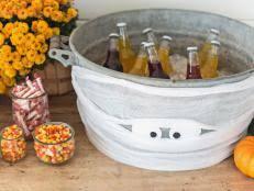 Halloween Entertaining - diy spooky dry ice cauldron video hgtv