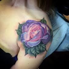 top 40 rose tattoo on shoulder for girls