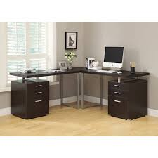 Glass L Shaped Desk Monarch Specialties L Shaped Corner Desk Walmart Com
