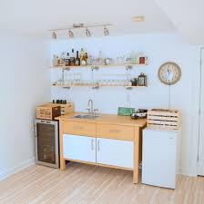 kitchen ikea ideas hacking the ikea varde the of a basement kitchenette bar
