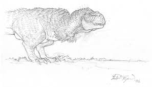 mitch byrd dinosaur sketch in david kirkpatrick u0027s monsters