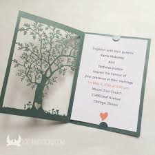 jaw dropping laser cut tree wedding invitations theruntime