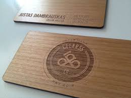 wooden business card for a wine cellar wood laser