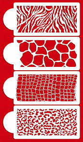 Kitchen Stencils Designs by Amazon Com Animal Skin Set Cake Stencils By Designer Stencils