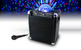 portable speaker with lights party rocker wireless speaker system with built in light show