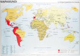 World Language Map by World Map In Spanish Of Spanish Speaking Countries