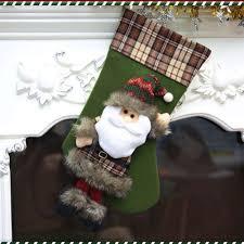 home christmas colorful santa claus xmas socks christmas stocking