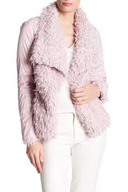 betsey johnson draped collar faux fur jacket nordstrom rack