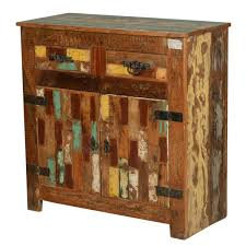 rustic painted patch reclaimed wood buffet cabinet how to build
