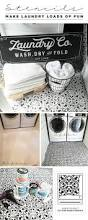 Build A Laundry Room - stencils make a laundry room loads of fun stencil stories
