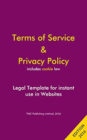 terms of service u0026 privacy policy template for websites kindle