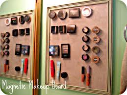 diy magnetic makeup board bathroom vanity organization ideas clipgoo