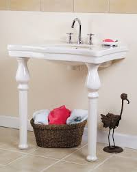 Pedestal Bathroom Vanity Wondrous Tiny Bathroom Vanity Sink With 2 Legged Pedestal Basin