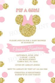 minnie mouse baby shower invitations pink and gold minnie mouse baby shower invitation gold minnie