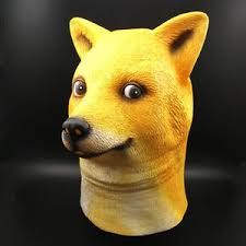 Doge Meme - wow doge meme mask kabosu face latex headgear such shiba dog