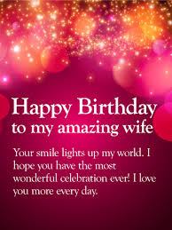 i love you more happy birthday wishes card for wife brilliant
