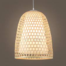 Bamboo Ceiling Light Handmade Bamboo Pendant Light Hollow Design