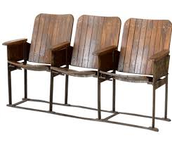 three seat theatre bench retro to go