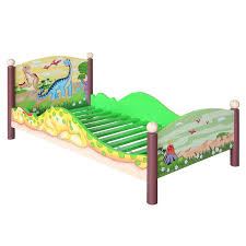 Dinosaur Bed Frame Fields By Teamson Dinosaur Convertible Toddler Bed