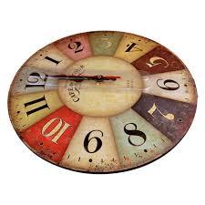 amazon com 12 inch retro wooden wall clock farmhouse decor