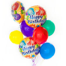 birthday balloon arrangements birthday balloon set monceau flowers