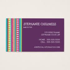 Merrill Business Cards Daycare Business Cards U0026 Templates Zazzle