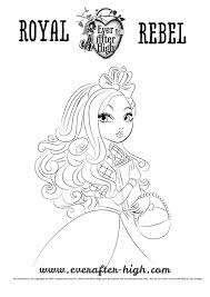 apple white coloring page ever after high