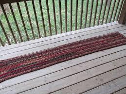 Rag Runner Rug Harvest Table Runner Rug Crochet Rag Rug Cedarlanefarm