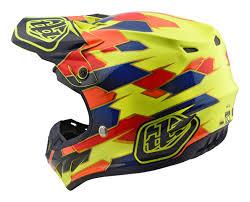 yellow motocross helmets 2018 troy lee designs se4 comp mips motocross helmet maze yellow
