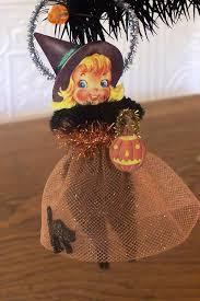 old world halloween ornaments little witch retro style halloween decoration ornament 12 00