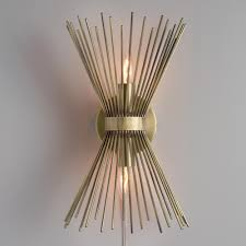 Wall Sconces Lighting Brass Starburst Logan Wall Sconce Lighting Solutions Modern