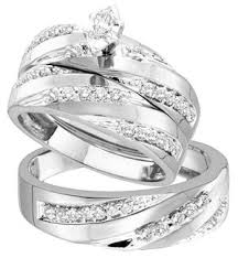 wedding ring sets cheap exclusive white gold wedding rings for women and men rikof