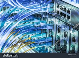 Fiber Optic Home Network Design Fiber Optic Connecting On Core Network Stock Photo 347465282