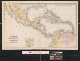 Map Of West Indies Map Of Mexico Central America New Granada Venezuela And The