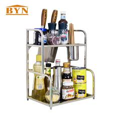 popular metal kitchen rack buy cheap lots from byn kitchen accessories countertop spice holder storage organizer rack metal freestanding utensil spoon